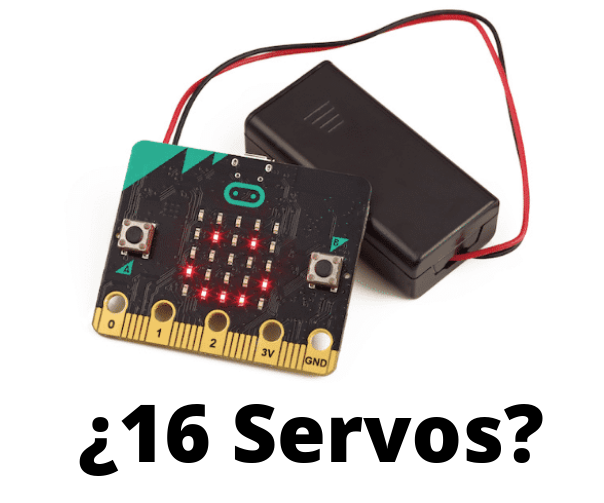 Microbit y 16 servos